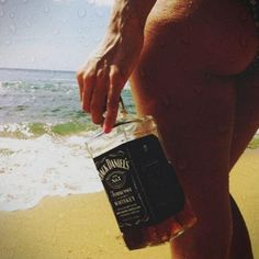 beach..and wisky