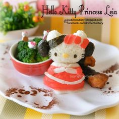 レシピとお料理がひらめくSnapDish - 49件のもぐもぐ - Hello Kitty Princess Leia  #hellokitty #foodart #kwbentodiary #Lunch #kidsmeal by Karenwee's Bento Diary