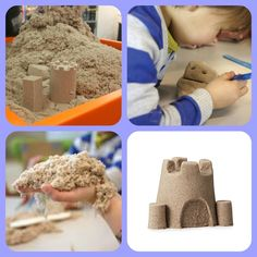 La sabbia Kinetic non macchia, è atossica ed è senza glutine. Non si secca! Dai 3 anni.