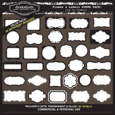 These are great for invitations! #frames #clipart #graphics
