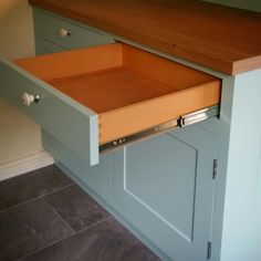 Dovetailed drawers in Beech for a recent kitchen remodel by www.jdwoodwork.co.uk