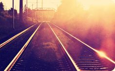 landscapes nature photo filters sunlight train tracks wallpaper (#2312533) / Wallbase.cc