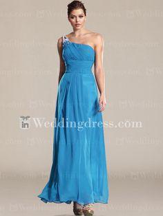 Modest+Chiffon+One-Shoulder+Bridesmaid+Dress+BR317N