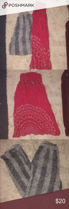 BOHO Pant and SKIRT Set Size large! Both new! Urban Outfitters Skirts