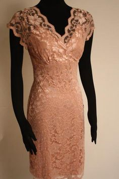 Lace V neck short dress - 240238A Lace V neck short dress   Our Price: $119.99