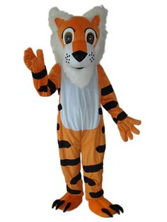 discount Long Beard Tiger Mascot Adult Costume
