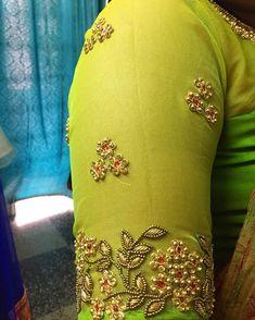 No automatic alt text available. Cutwork Blouse Designs, Pattu Saree Blouse Designs, Simple Blouse Designs, Bridal Blouse Designs, Blouse Neck Designs, Sleeve Designs, Zardosi Work Blouse, Maggam Work Designs, Designer Blouse Patterns