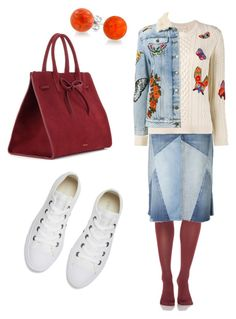 """""""Untitled #228"""" by loril4 on Polyvore featuring Converse, SPANX, Current/Elliott, Valentino, Gucci, Bling Jewelry and Mansur Gavriel"""