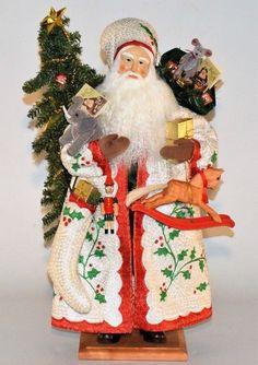 "2000 Lynn Haney Santa ""HOLLY JOLLY CHRISTMAS"" 23"" with Box Model #2010 #LynnHaney"