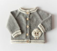 Lamb baby set grey and white merino jacket and hat wool sweater with sheep MADE TO ORDER Lamm Strickjacke kleines Lamm Pullover gestrickten Pullover Baby Pullover Baby Dusche Geschenk Merino Pullover hellgrau Pullover MADE TO ORDER Baby Cardigan, Cardigan Bebe, Baby Boy Sweater, Knit Baby Sweaters, Boys Sweaters, Pull Crochet, Crochet Baby, Knitted Baby, Baby Knitting Patterns