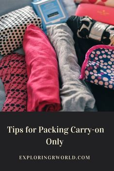 You can pack carry-on only. Use these tips to help you travel light. Packing list can be downl. Carry On Packing, Suitcase Packing, Packing List For Travel, Packing Tips, Travel Tips, Travel Hacks, Packing Cubes, Vacation Packing, Travel Stuff