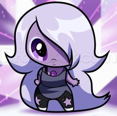 How to Draw Chibi Amethyst from Steven Universe, Step by Step ...