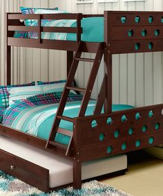 This Cappuccino Blue Mission Twin Full Tent Bunk Bed By Donco Kids Is Perfect Zulilyfinds