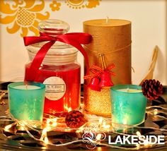 ~ Assorted Collection ~  Christmas season is ON!  So, my good friend Aditi Madan wanted an assorted set containing one of each type - pillar, jar, and a pair of votives as a gifting option. We thought, what better way to kick-start the Christmas season than making this special birthday hamper for her friend. And yes, the hamper came in a cute paper bag.  About Fragrance - Tea-rose in the jar and Clean Cotton in the snowflake votives!  #ByTheLakeside #Christmas
