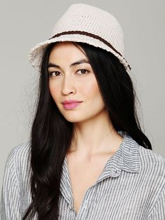 Free People Crochet Fedora Hat http://www.freepeople.com/whats-new/crochet-fedora-hat/