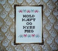 geriljabroderi - Google-søk Cross Stitch Quotes, Hardanger Embroidery, Guerrilla, Homemade Gifts, Needlework, Hold On, Arts And Crafts, Humor, Frame