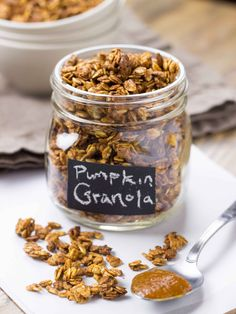 Pumpkin Butter & Brown Butter Maple Pecan Granola