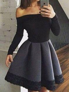Black Homecoming Dress 2017 Short Prom Drsess Juniors Homecoming Dresses SKY109 #shortpromdresses