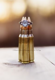 Engagement Photography Session with bullets, shotgun shells