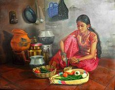 - Indian Women Painting, Indian Artist, Indian Artwork, Indian Paintings, Art Paintings, Bollywood Stars, Indian Illustration, Composition Art, Om Namah Shivaya