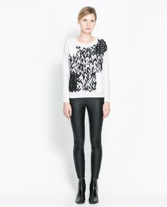 Image 1 of WOVEN SWEATER from Zara