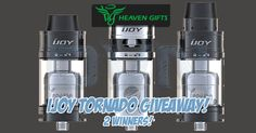 GIVEAWAY: DVN & Heavengifts.com have teamed up again! This time there are 2 of the brand new iJoy Tornado RTA tanks up for grabs. Head on over to the giveaway page to see all of the different entry options!  Enjoy everyone! Don't forget to say thank you to Heaven Gifts​!