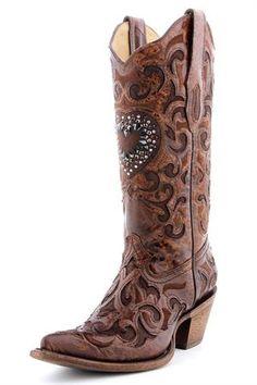Corral Crystal Heart Cowgirl Boots #WeddingBoots #BridesBoots #WesternWeddings