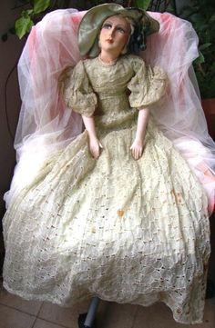 Antique Boudoir Doll romantic by FashionanticVintage on Etsy