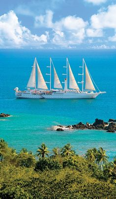 Sailling in style: The 440ft motor yacht Windstar takes a tour of Barbados, St Lucia, Gren...