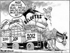 FRED MOUTON [cartoonist for Die Burger] depicts the promises of State of the Nation Addresses past, and the challenge in delivering on them. Political Cartoons, Editorial, Challenge, African, Sheep