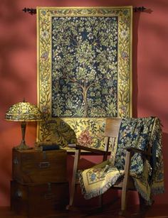 The Tree of Life - Garden of Delight Tapestry & Throw Celtic Decor, Celtic Tree Of Life, William Morris, Shades Of Gold, Beltane, Celtic Designs, Arts And Crafts Movement, Autumn Home, Inspired Homes