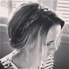 Braided headband. -- hairandmakeupbysteph