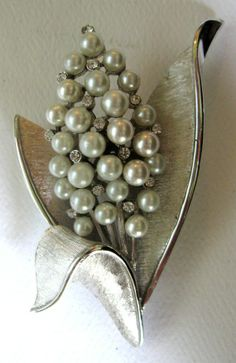 Be Glowing... Vintage Trifari Silver Pearl Hyacinth by mae1331, $25.00