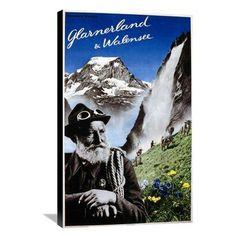 Global Gallery Glarnerland & Walensee Canvas Wall Art - GCS-294616-22-143