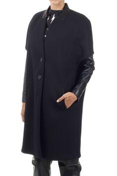 Neil Barrett Women Oversize Overcoat with Detachable Jacket - Spence Outlet