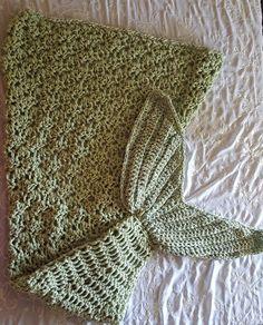 Crocheted Mermaid tail in rippling shell pattern