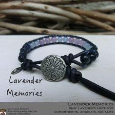 Lavender Memories (ラベンダーメモリー)と名付けたこのブレスレット。淡い色のストーンを使用したやわらかな雰囲気に仕上がっております。贈り物と...|ハンドメイド、手作り、手仕事品の通販・販売・購入ならCreema。