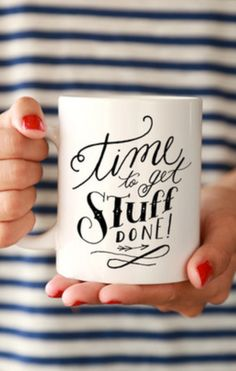 I always need my cup of coffee right away in the morning to get me motivated. Then you can find me sipping on coffee all day if I am cleaning.
