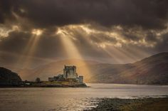 Eilean Donan Castle Her ever-changing moods. Scotland Castles, Scottish Castles, Eilean Donan, Beautiful Landscapes, Wonders Of The World, Monument Valley, Cool Photos, Beautiful Places, Amazing Places