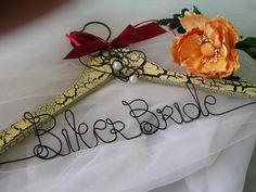 Newnew Biker Bride Wedding  hanger by Clareensquirkycorner on Etsy, $28.00