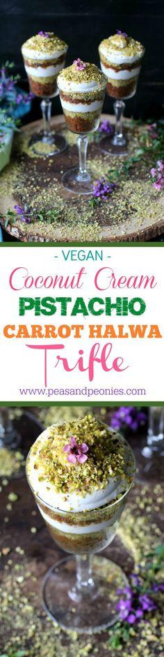 Vegan Carrot Halwa Coconut Cream Pistachio Trifle