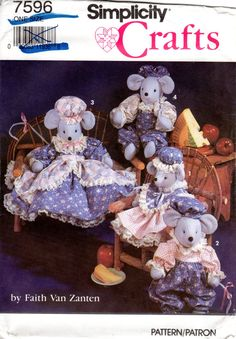 OOP 1990s Craft Pattern  Mouse Doll and Clothes  by ErikawithaK