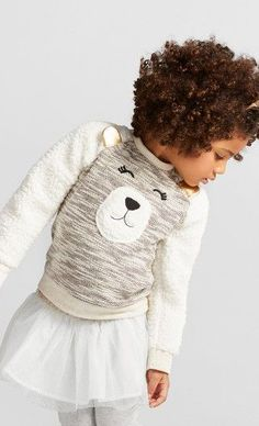Cat & Jack Toddler Girls' Bear Face Pullover Bear Face, Toddler Girls, Winter Hats, Crochet Hats, Pullover, Cat, Kids, Fashion, Knitting Hats