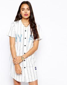 1000 images about baseball tee on pinterest button up for Baseball jersey shirt dress