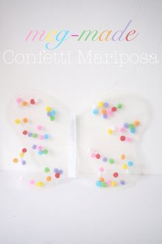 meg-made Confetti Mariposa - Girls Confetti (Pom poms) Butterfly Wings clip  #megdashmade #babybutterflywings #butterflywings #butterflywingsclip