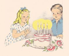 Janet Laura Scott girl and boy birthday cake | Flickr - Photo Sharing!
