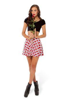 Love Ya Bits White Skater Skirt - WKEND PRE SALE › Black Milk Clothing - XXS