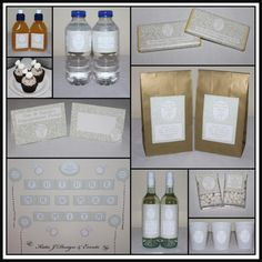 Mega Party Pack #Natural #Nude #Cream #Damask #Floral #Engagement #Party #Colour #Schemes #Bunting #Party #Decorations #Ideas #Banners #Cupcakes #WallDisplay #PopTop #JuiceLabels #PartyBags #Invites #KatieJDesignAndEvents #Personalised #Creative