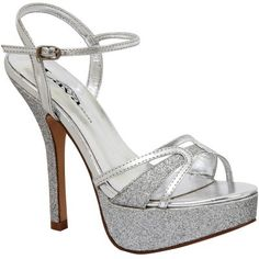 Sparkly Silver Wedding or Prom shoes!