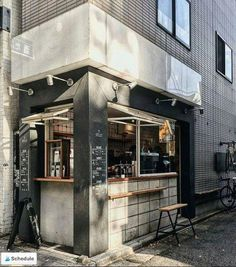Coffee Shop Tour : About Life Coffee Brewers - La Fille à Panier Coffee Shop Japan, Japanese Coffee Shop, Coffee Shop Bar, Small Coffee Shop, Coffee Store, Coffee Coffee, Cofee Shop, Coffee Life, Coffee Pods